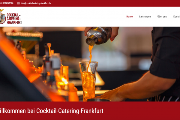 Webseite Cocktail Catering Frankfurt