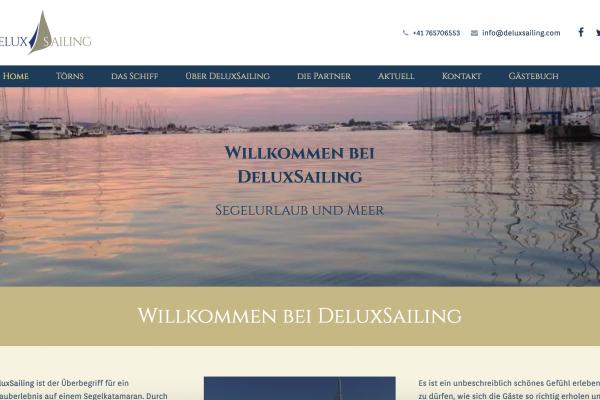 Deluxsailing.com von frey-sein.com - Webentwicklung für die Schweiz