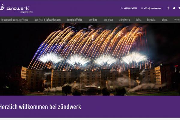Webseite auf Basis von Wordpress